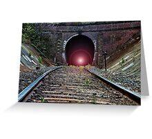 """""""Light at The End of The Tunnel"""" Greeting Card"""