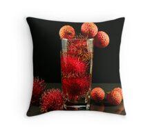 Asian Tropical Fruit Throw Pillow
