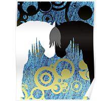 Sea Storm Yin & Yang Horses Poster