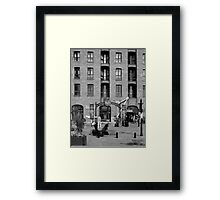 The Beatles Story Exhibition. Framed Print