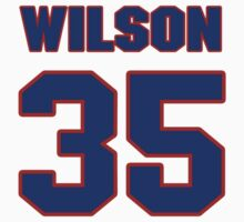 National football player Jimmy Wilson jersey 35 by imsport
