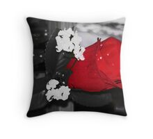 artificial rose Throw Pillow