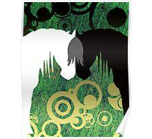 Aztec Jungle Yin & Yang Horses Poster
