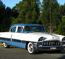 Packard #12 - 1956 Patrician White & Blue by Marilyn Harris