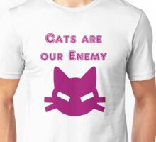 Iskybibblle Products Cats are our Enemy Pink Unisex T-Shirt
