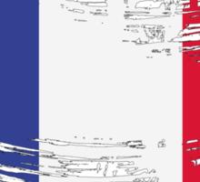 France Flag Brush Splatter Sticker