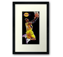 L.A. Lakers Air Quality Framed Print