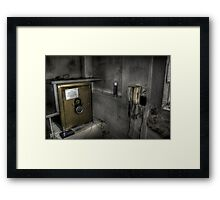 Cash line Framed Print