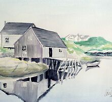 Reflections in Peggy's Cove by Carolyn Bishop
