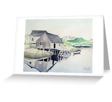 Reflections in Peggy's Cove Greeting Card