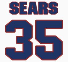 National football player Jimmy Sears jersey 35 by imsport