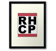 Run Chili Peppers Framed Print