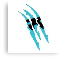 Rush Claw Mark (Blue) Canvas Print