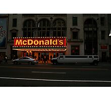 Fast Food in Style Photographic Print