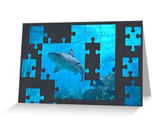 shark puzzle Greeting Card