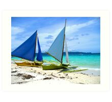 Twin Sails Art Print