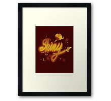 shiny 2 Framed Print