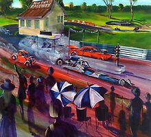 IRON BARK RACEWAY - artist Bob Gammage by tola
