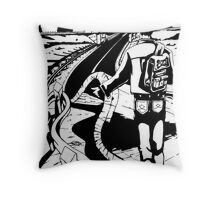 The Highway of Time Throw Pillow