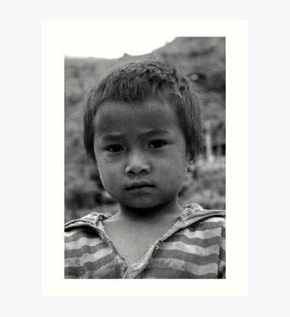Nepalese Boy Art Print