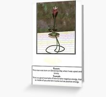 """A ROSE BORN ON CHRISTMAS DAY"" Greeting Card"