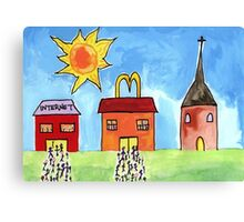 Easter Queues Canvas Print