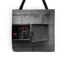Whatever you do, do not press the red button!  Tote Bag