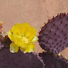Purple Prickly Pear Cactus by Kathleen Brant