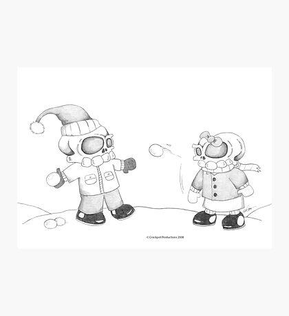 Snow Skellies Photographic Print