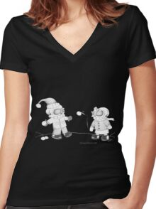 Snow Skellies Women's Fitted V-Neck T-Shirt