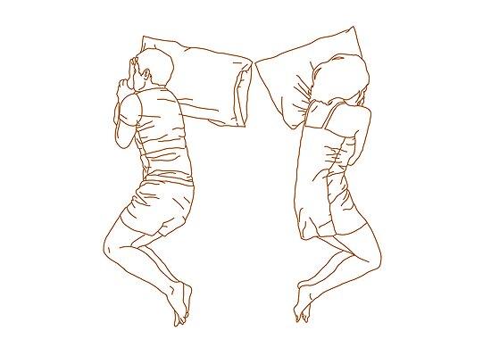 Sleeping position: Cliffhanger by Hema Sabina