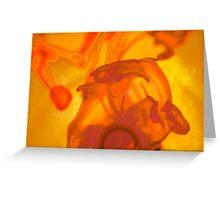 Negative orange sol Greeting Card