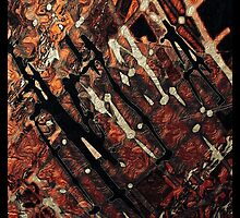 Orange, brown, black, ABSTRACT ART, gifts and decor by ackelly4