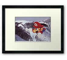 Super Mario to the Rescue Framed Print