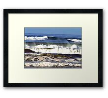 Waves, Spray and Roll Framed Print
