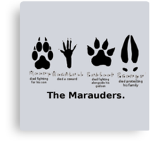 Marauders Animagus Footprint  Canvas Print