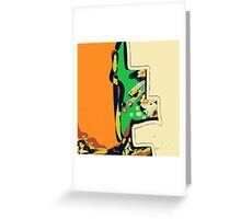 Abstract orange and green ART Greeting Card