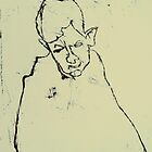fara monotype - 2 minute portrait  by donnamalone