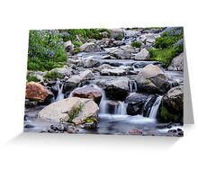 Mount Rainier's Myrtle Falls Greeting Card