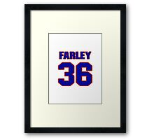 National football player Dick Farley jersey 36 Framed Print