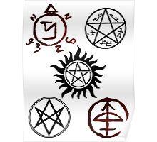 Supernatural Sigil Pattern Poster