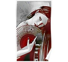 Geisha Red Poster