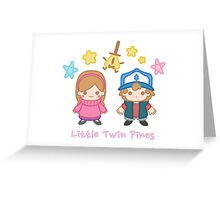 Little Twin Pines Greeting Card