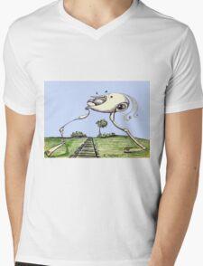 Transient Mens V-Neck T-Shirt
