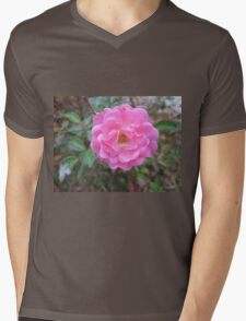Perfect Pink Rose Garden Flower Mens V-Neck T-Shirt