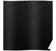 Optical illusion - Impossible Figure -  Balck & White Pattern Poster