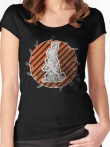 White Rabbit Enjoying the Sunset Women's Fitted Scoop T-Shirt