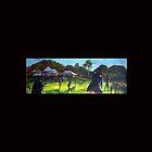 Eumundi cricket  match- artist Bob Gammage by tola