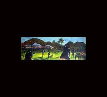 Eumundi cricket  match- artist Bob Gammage by tola