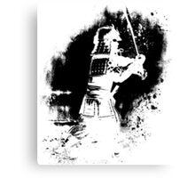 Samurai  (black) Canvas Print